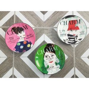 New Kate Spade Lenox Make Headlines Dessert Plates